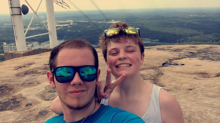 Sam and Brian atop Mt. Stone Mountain