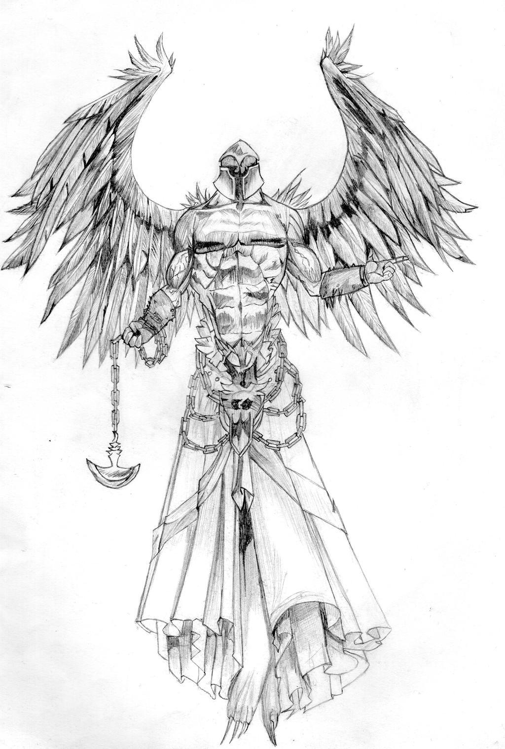 Angel Warrior Drawings – Modifikasi Sepeda Motor