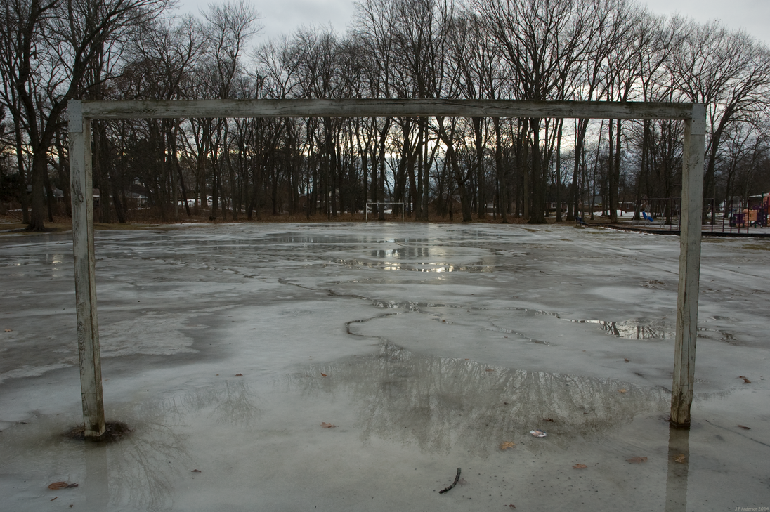 Frozen Soccer Field (2) - (Schenectady, New York) by jackthetab