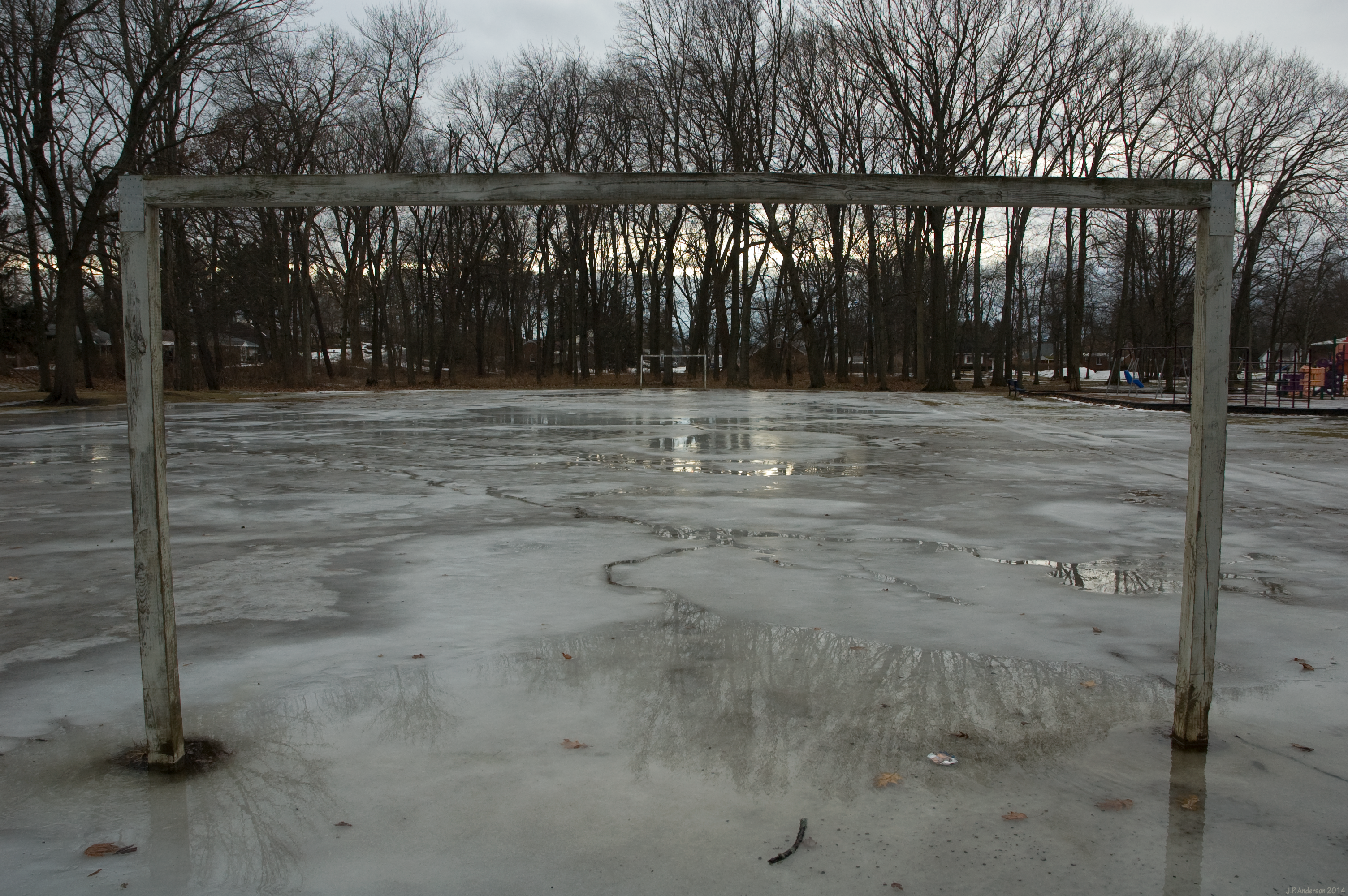 Frozen Soccer Field (2) - (Schenectady, New York) by jackthetab