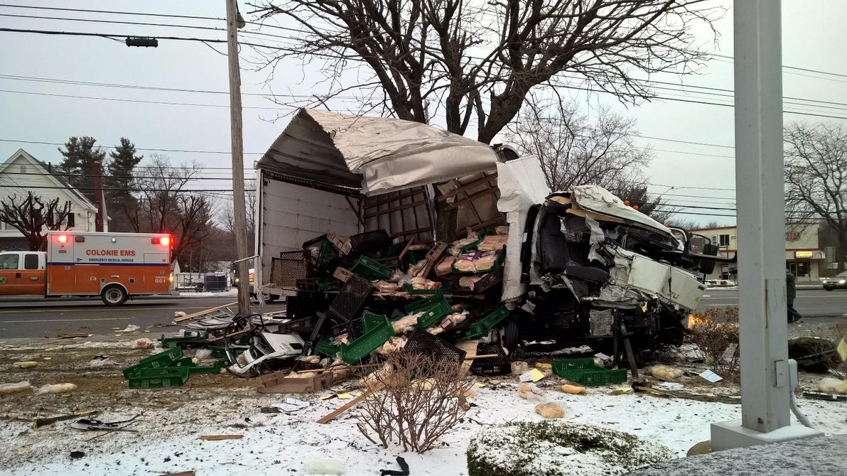 Truck accident #2 - Colonie NY by jackthetab