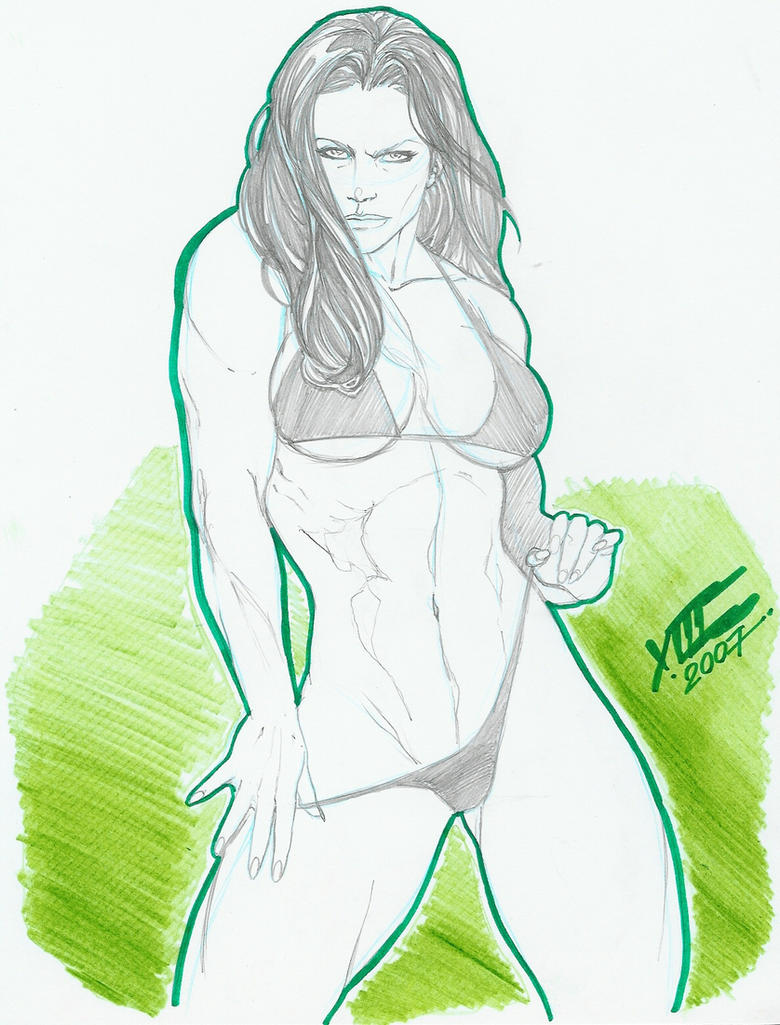 Sexy She-Hulk pinup by LuisXIII by zefly88