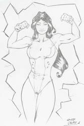 She-Hulk pinup by Eduardo Vieira