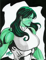 My 7th pinup of She-Hulk from LuisXIII by zefly88