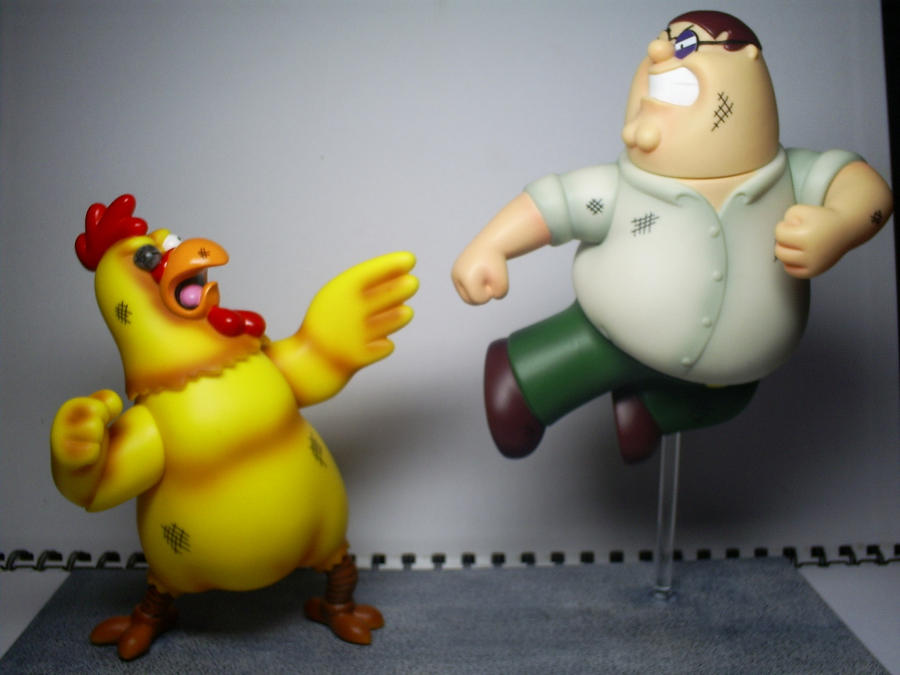 Family Guy Peter Toy : Family guy peter vs chicken toy