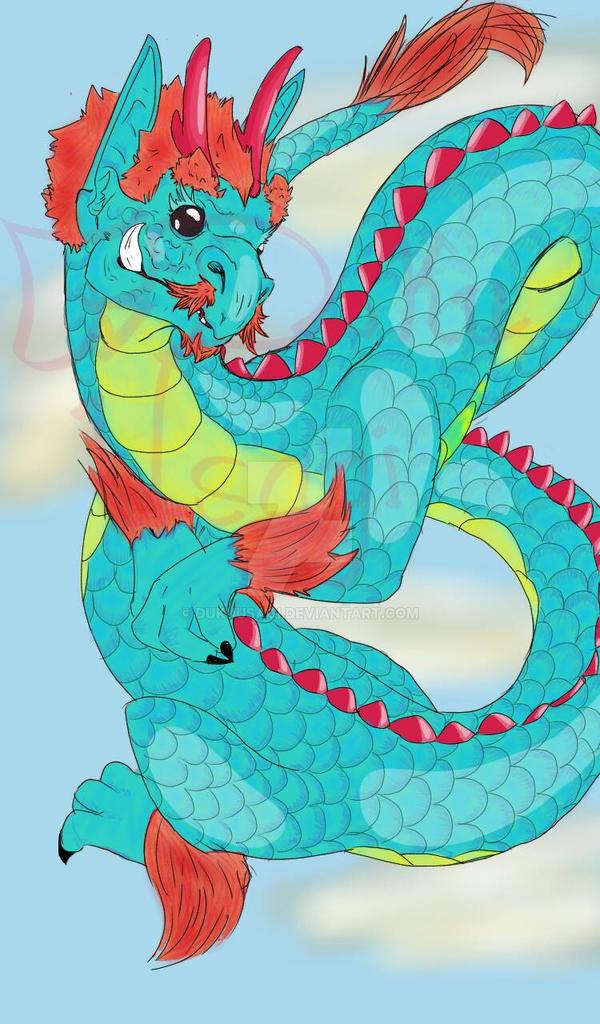 Baby Eastern Dragon by DukuUsagi