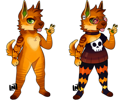 Anthro Adopt - Pumpkin Spice Pup [CLOSED]