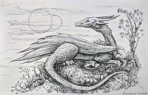 Daily Ink Sketch: 73 by Etchwyrm