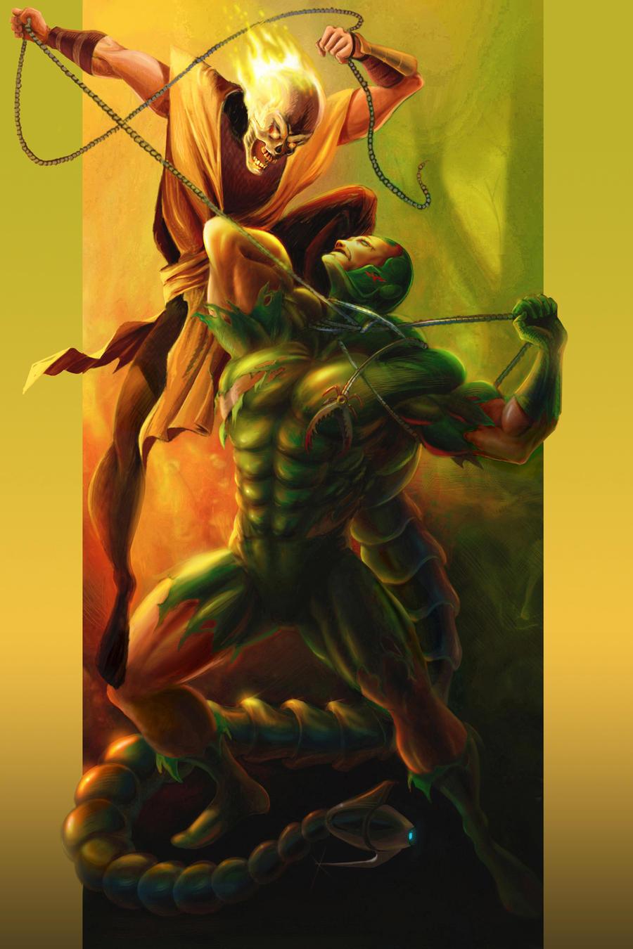 Scorpion Vs Scorpion by Goshadude89 on DeviantArt