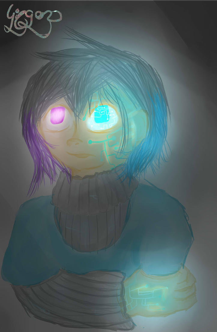 i like glow effects too much by theredheaddevil