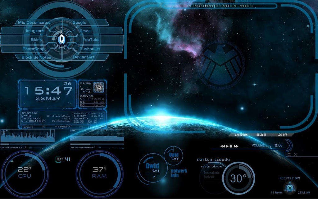 My Rainmeter Screen by StrigoiiMort