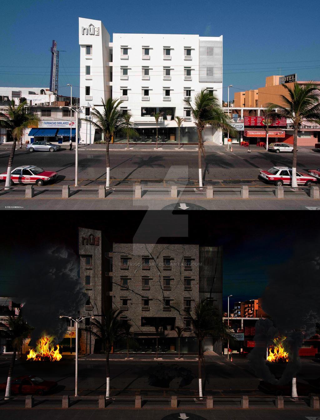 Hotel NU Veracruz Antes-Despues by StrigoiiMort