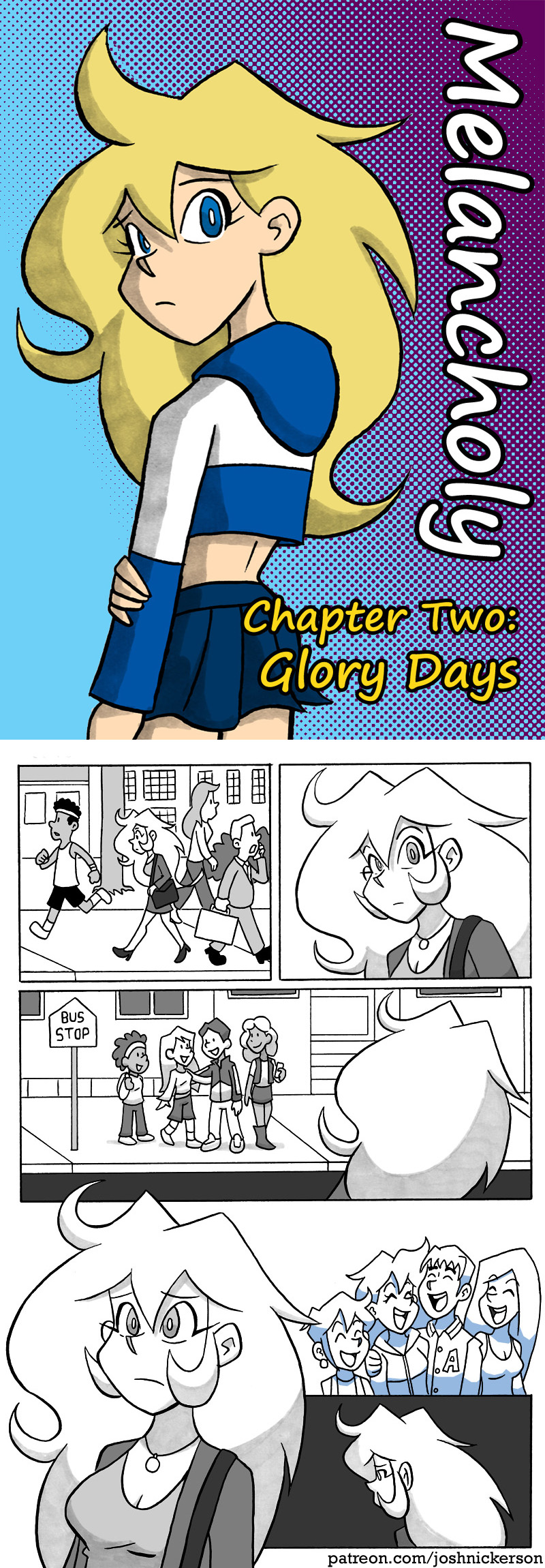 Melancholy Chapter 2: Title Page and Page 6 by joshnickerson