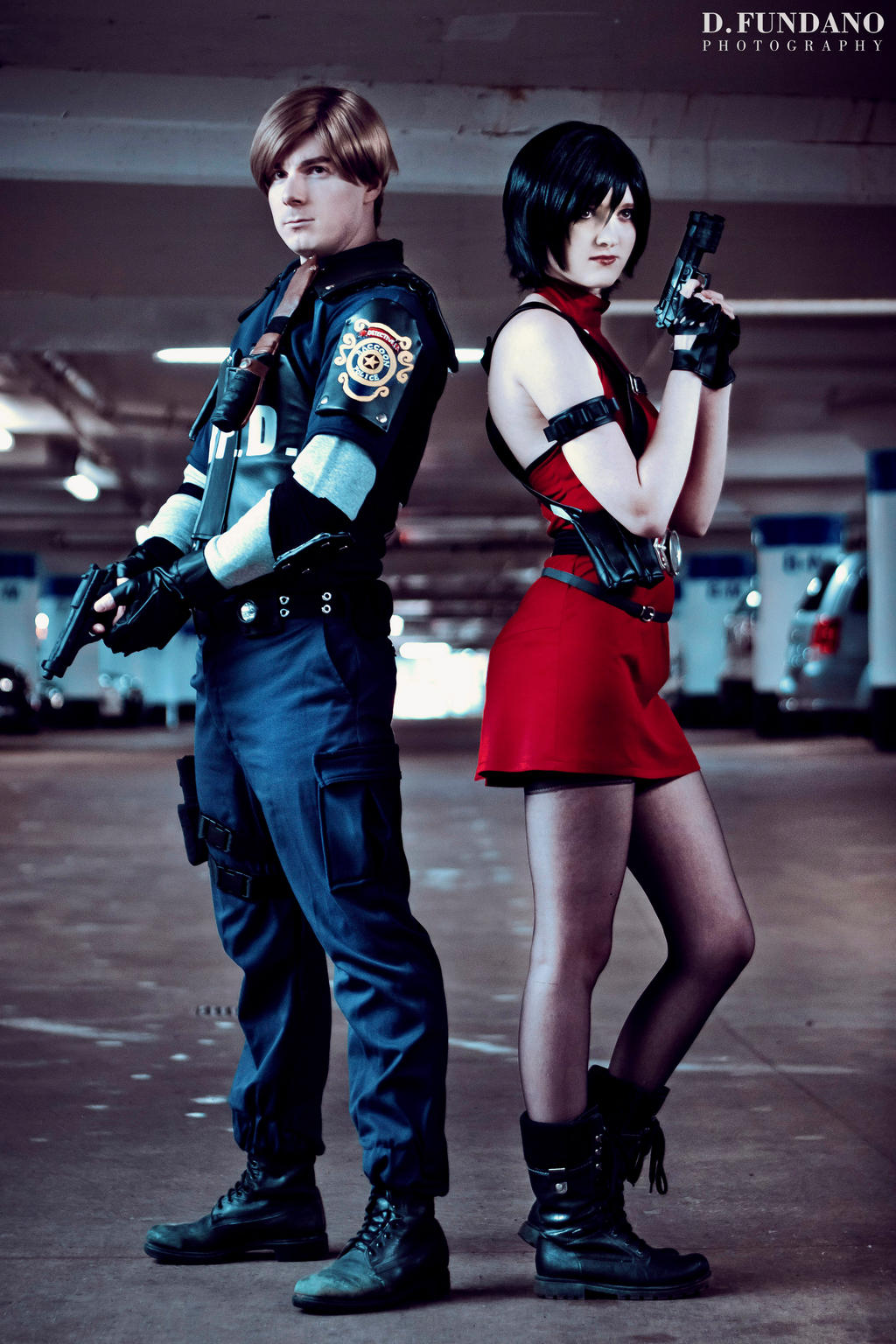 Resident Evil 2 Leon And Ada Cosplay By Galactic Reptile On
