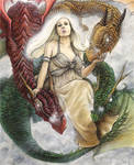Daenerys and Her Dragons