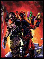 Punisher and Deadpool colors by BDStevens