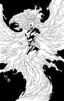 Dark Phoenix inks by BDStevens