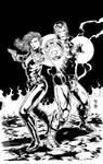 Iron Man and Widow Inks