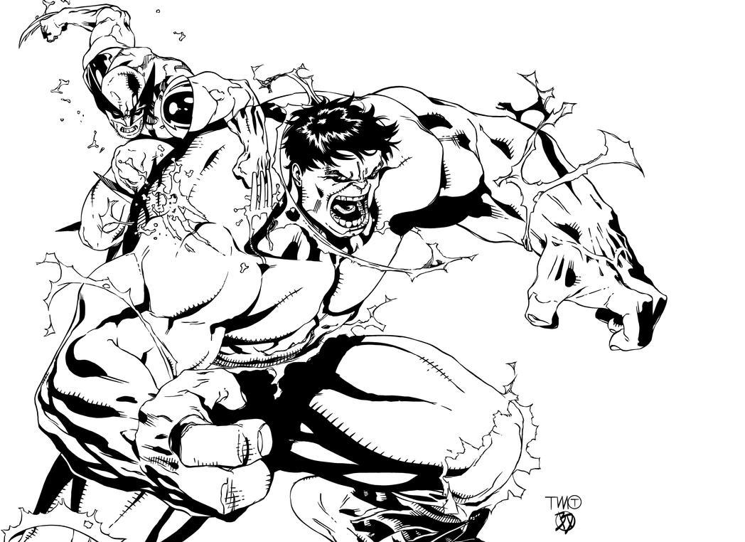 hulk vs superman coloring pages - photo#31