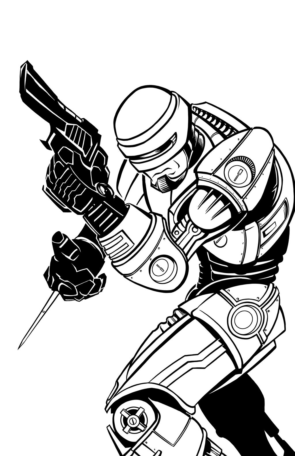 robocop coloring pages - photo#31