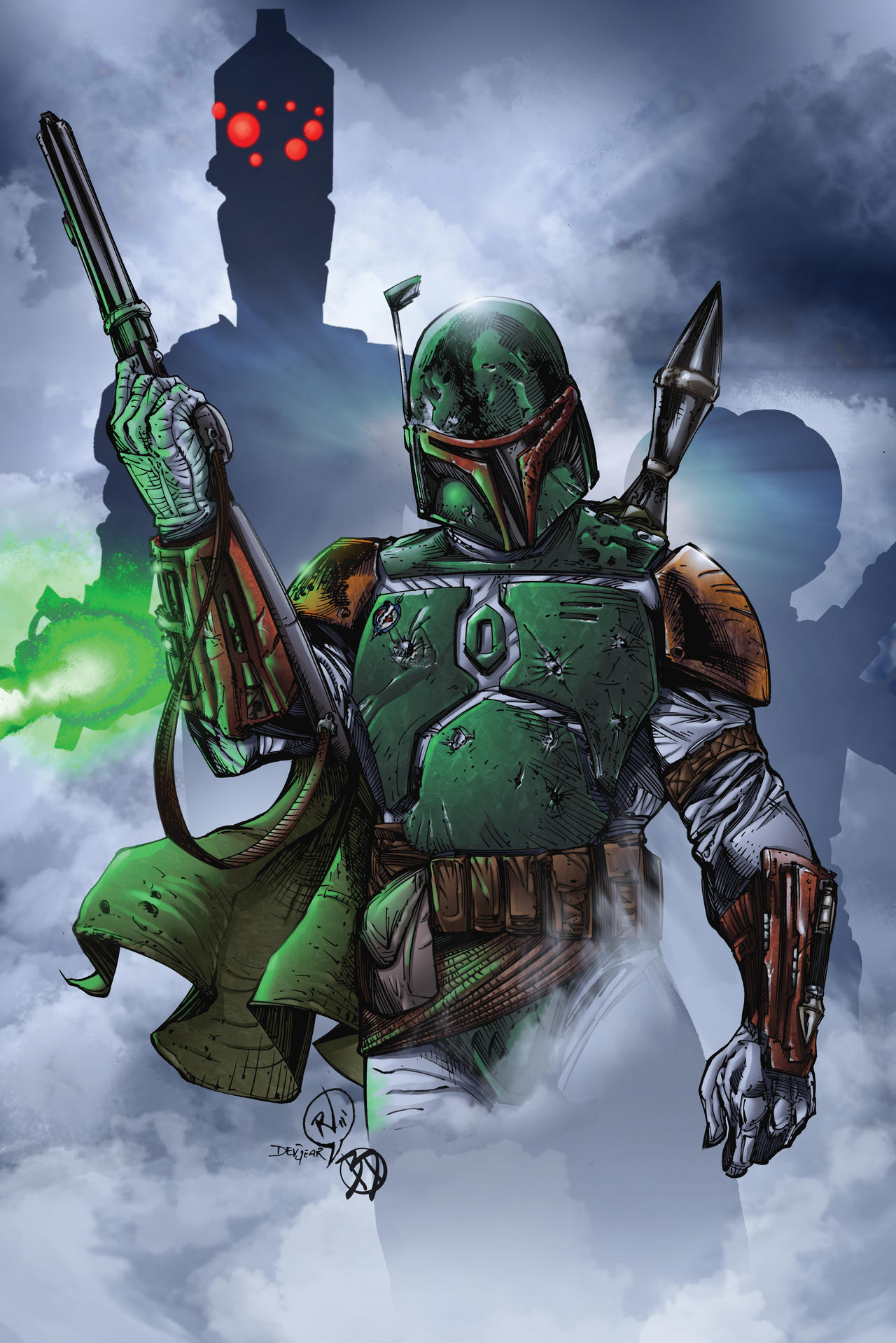 Boba Fett and the Bounty Hunters by BDStevens on DeviantArt