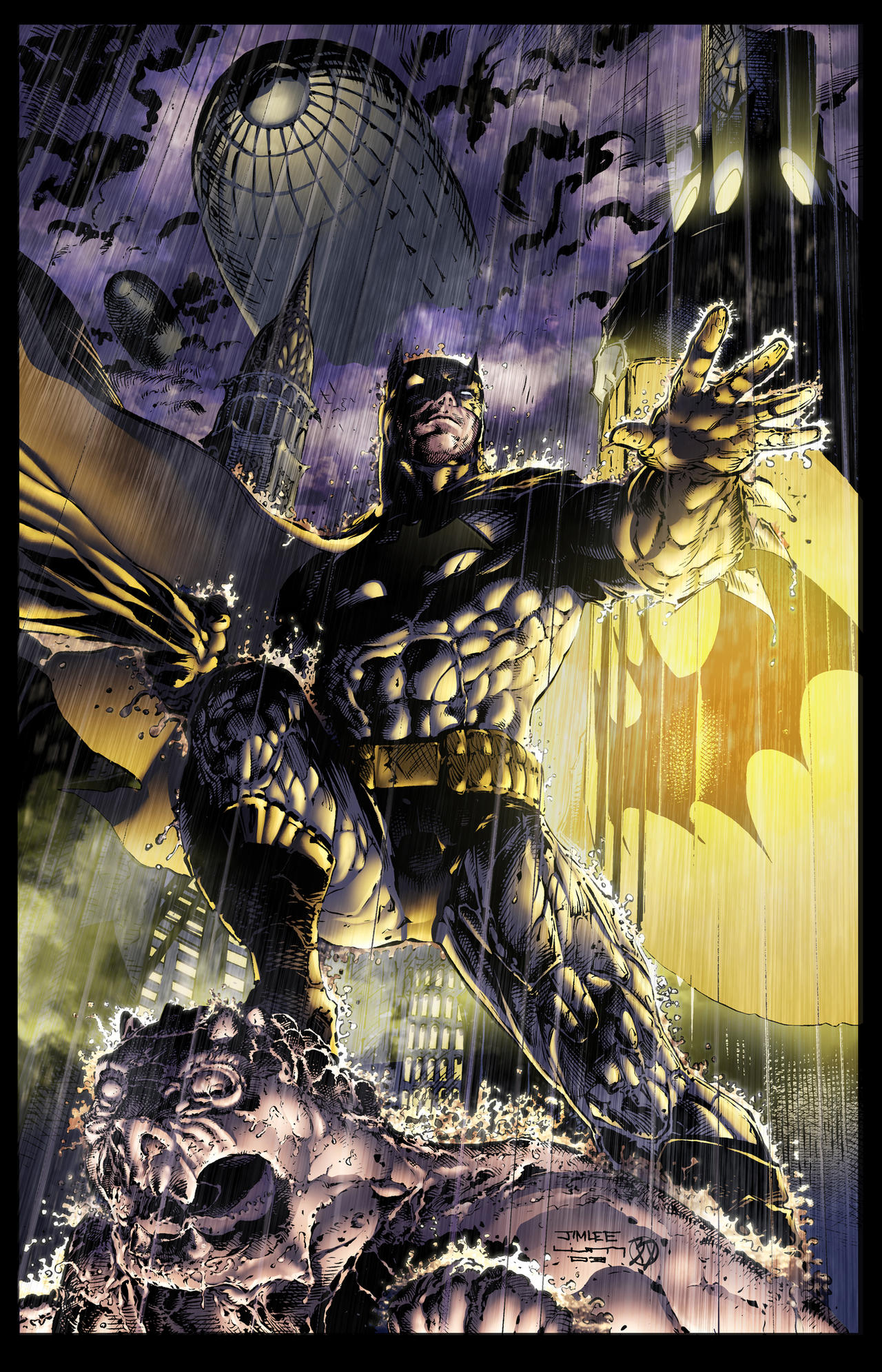 Jim Lee Batman Colors by BDStevens