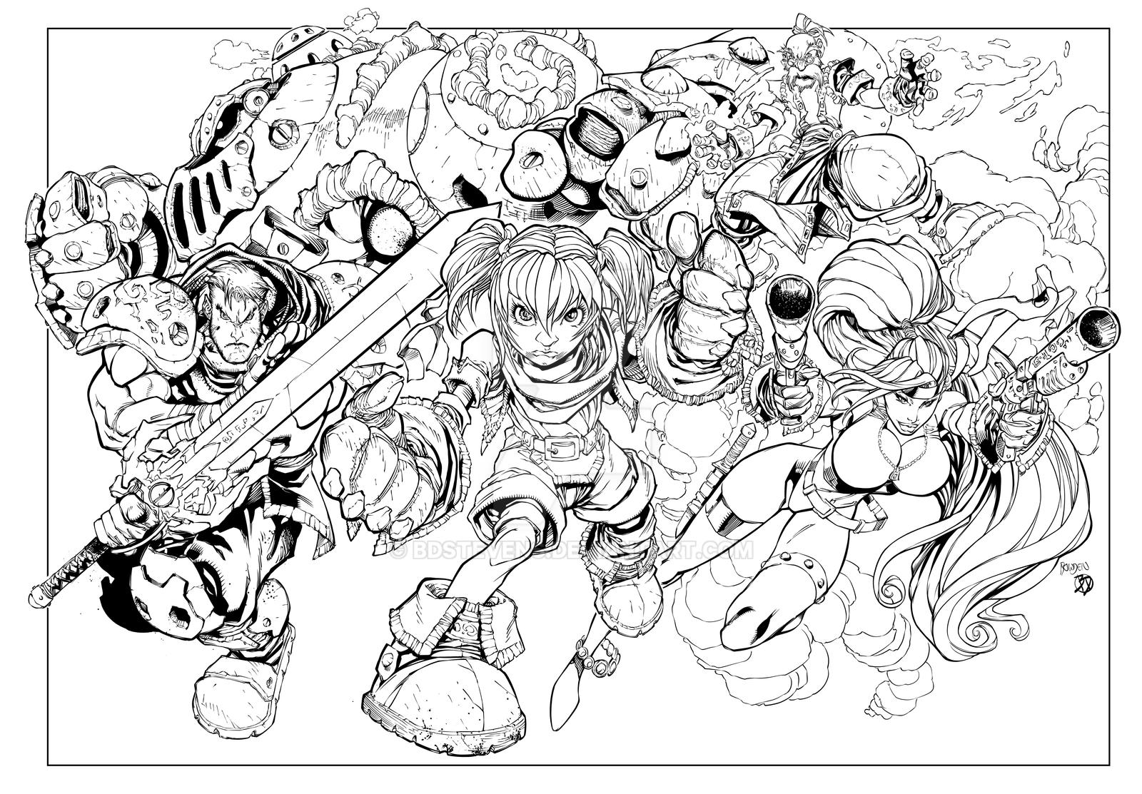 Battle Chasers!! by BDStevens