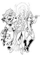 Marvel Girls Inked by BDStevens