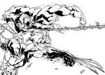 Wolverine Spiderman And Hulk Inks