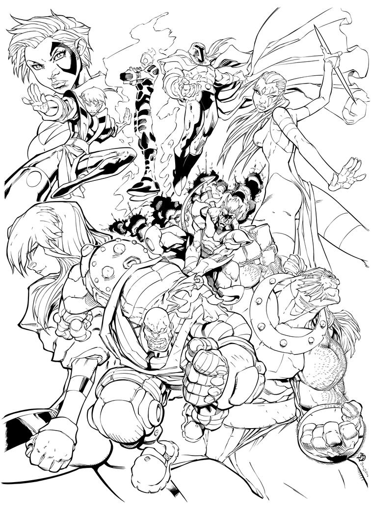 X-Men Age of Apocalypse inks by BDStevens