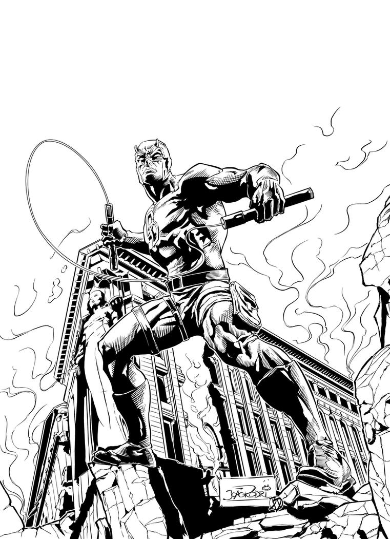 Daredevil Classic Inks by BDStevens
