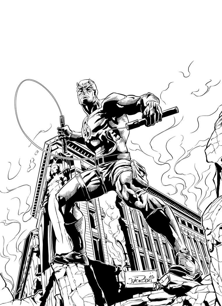 Daredevil Classic Inks by BDStevens