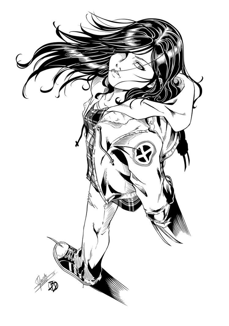 X-23 - Blood 'n Flannel Inks by BDStevens