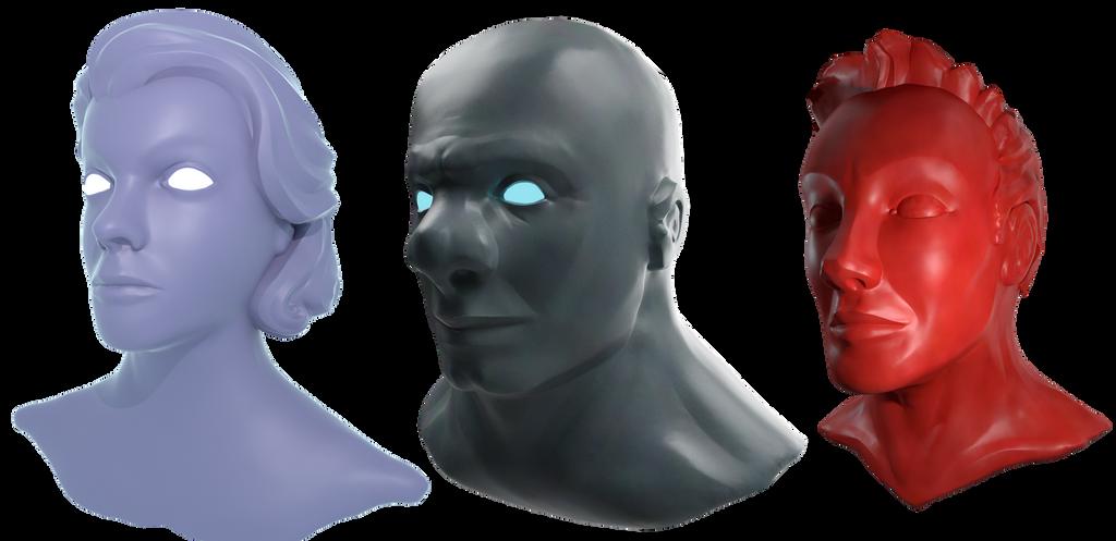 Head Sculpts by BDStevens
