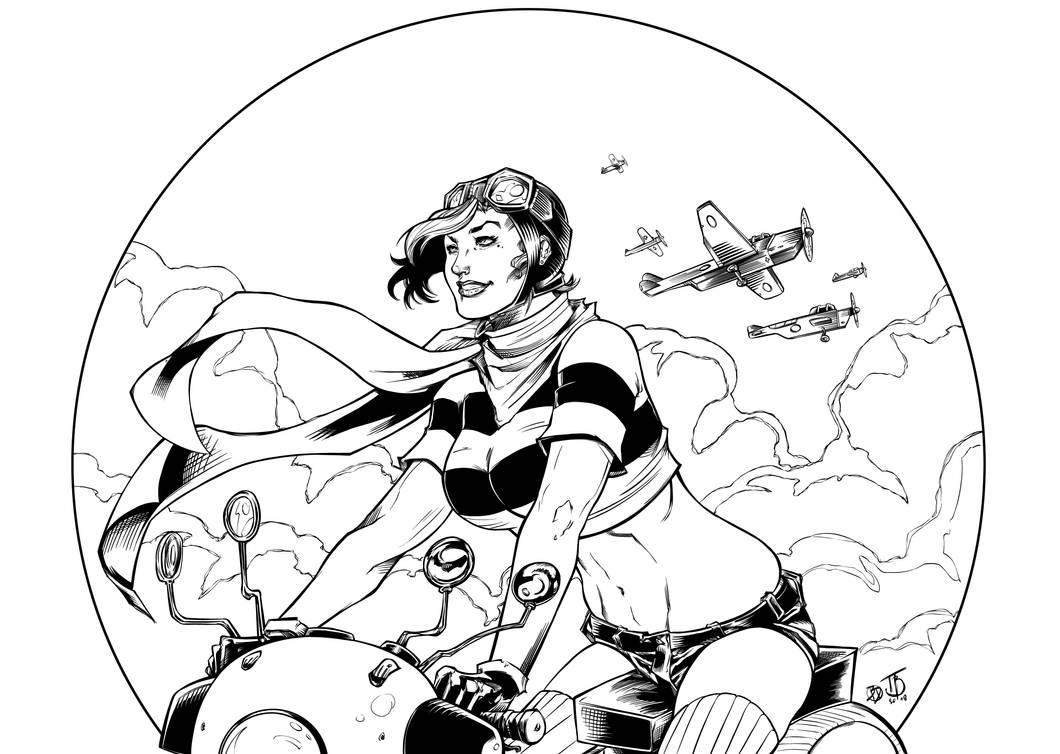 Patriot Girl II Inks by BDStevens