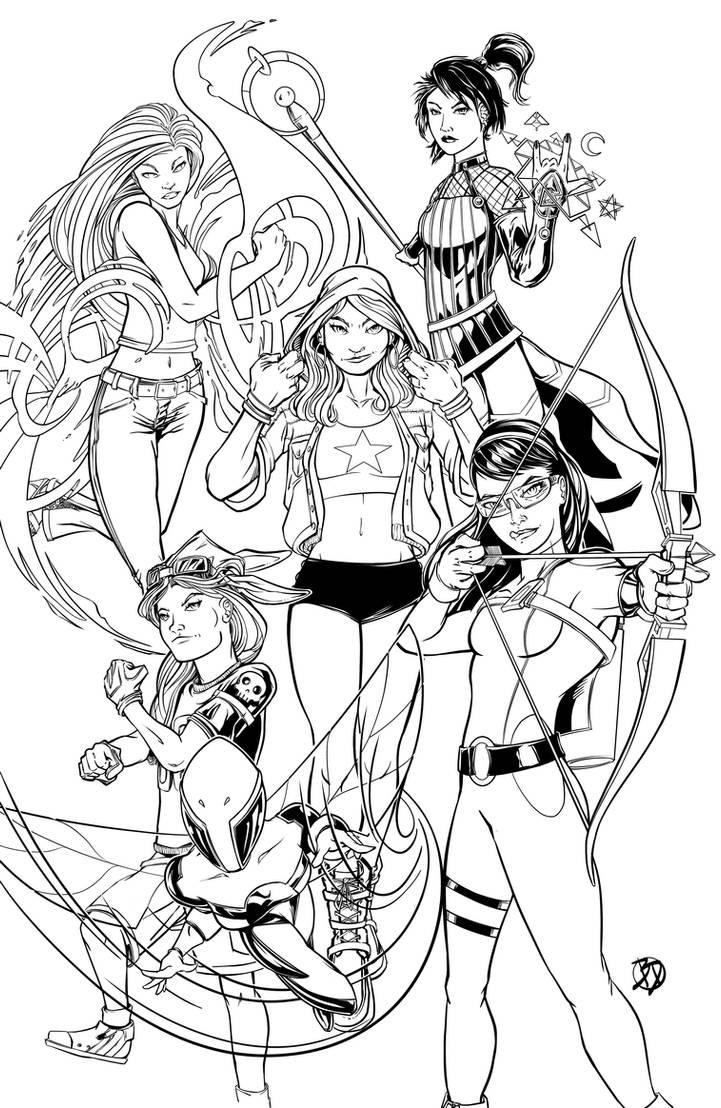 Marvel Girls by BDStevens