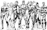 Justice League Inks