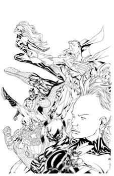 Marvel/DC crossover inks