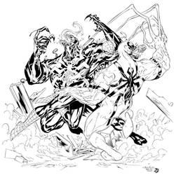 Spider-Man vs Venom vs Anti-Venom inks