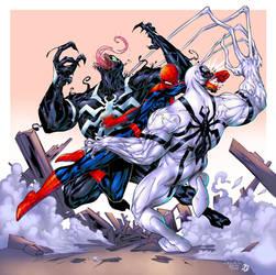 Spider-Man vs. Venom vs. Anti-Venom colors