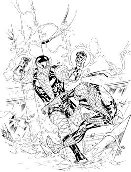 Spider-Man vs Shocker Inks