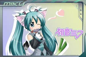Vocaloid - NekoMiku by PostNuclearNeko