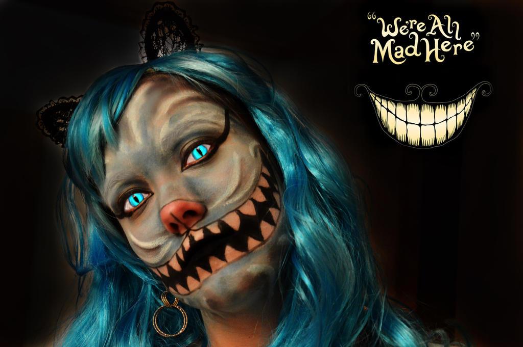 Cheschire cat Halloween Makeup by bettaskate89