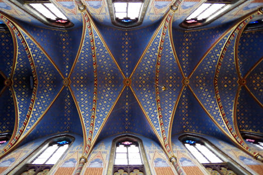 Ceiling of St. Marien Basilica in Kevelaer Germany