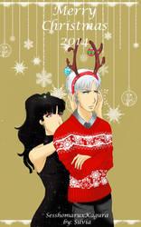 Merry Christmas - SesshoKagu by SilviaLedVal