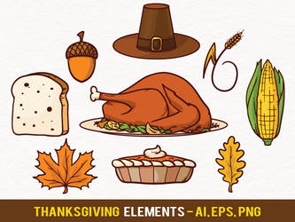 Free Thanksgiving Vector Elements by pixaroma