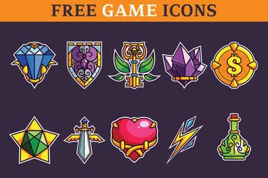 Basic Game Icons Set by pixaroma
