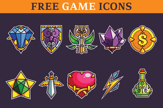 Basic Game Icons Set