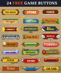 24 Free Game Buttons