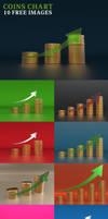 Coins Chart Free 3D Render